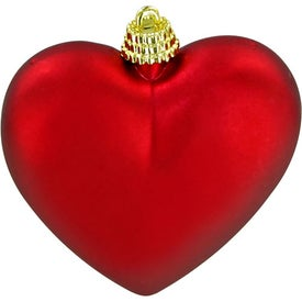 Heart Ornament with Your Logo