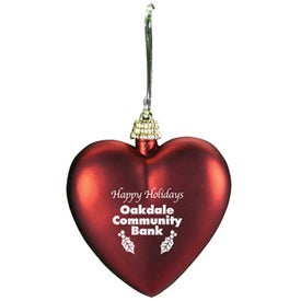 Heart Ornament with Your Slogan