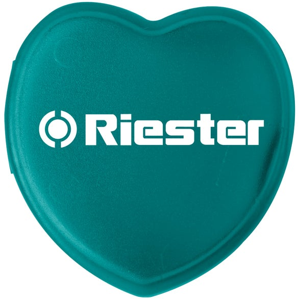 Translucent Aqua Plastic Heart Pill Box