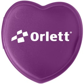Plastic Heart Pill Box with Your Logo