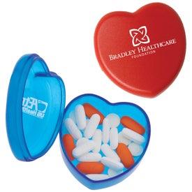 Plastic Heart Pill Box