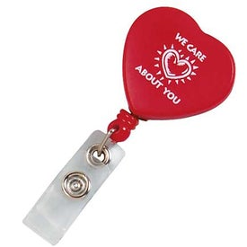 Customizable Heart Retractable Badge Holder