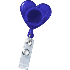Personalized Heart Secure-A-Badge Holder