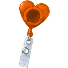 Heart Secure-A-Badge Holder Branded with Your Logo