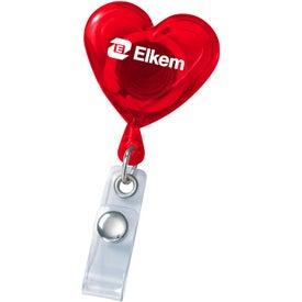 Logo Heart Secure-A-Badge Holder