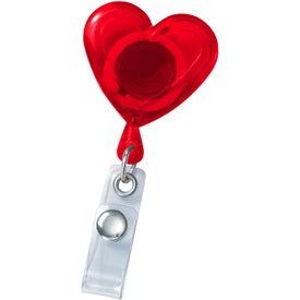 Custom Heart Secure-A-Badge Holder