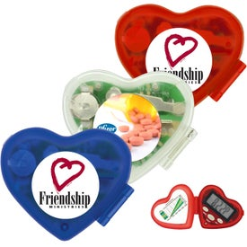 Heart Shaped Pedometer Giveaways