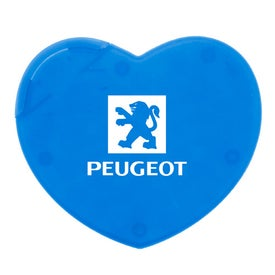 Heart Shaped Pick N Mint with Your Slogan