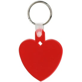 Personalized Heart Soft Key Tag
