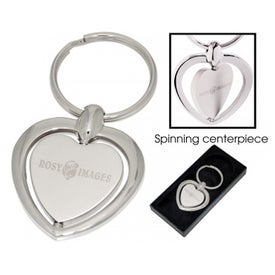 Heart Spinner Keychain with Your Logo