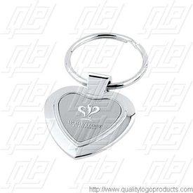Heart Metal Key Tag