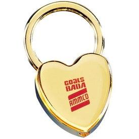 Brass Heart Keytag