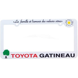 3D Maximum License Plate Frame (Black and White)