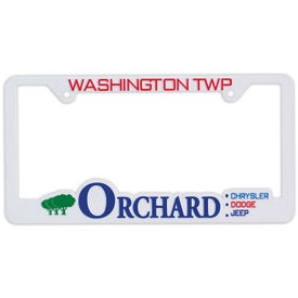 3D Traditional License Plate Frame (White)