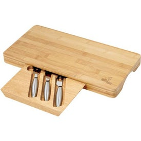 Customizable Hide-Away Bamboo Cheese Board for your School