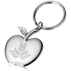 High Polish Apple Key Holder with Logo Locket
