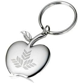 High Polish Apple Key Holder with Logo Locket