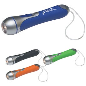 Promotional High Tech Flashlight With Clear PVC Wrist Band