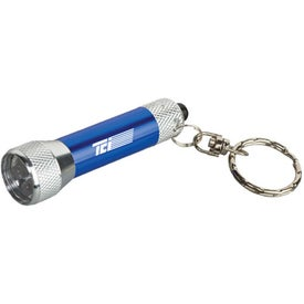Company Homestead Metal Flashlight with Key Tag