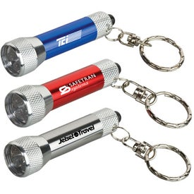 Homestead Metal Flashlight with Key Tag for Marketing