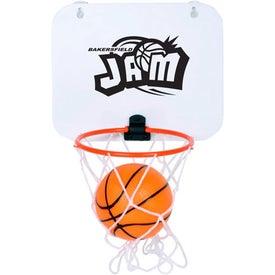 Branded Basketball Over The Door Hoop Set