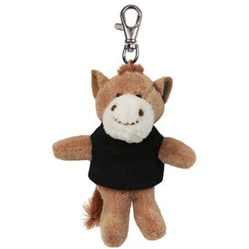 Horse Plush Key Chain