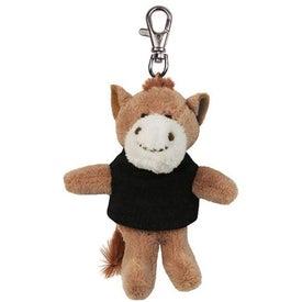 Horse Plush Key Chain
