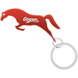 Horse Shape Bottle Opener Keychain with Your Slogan