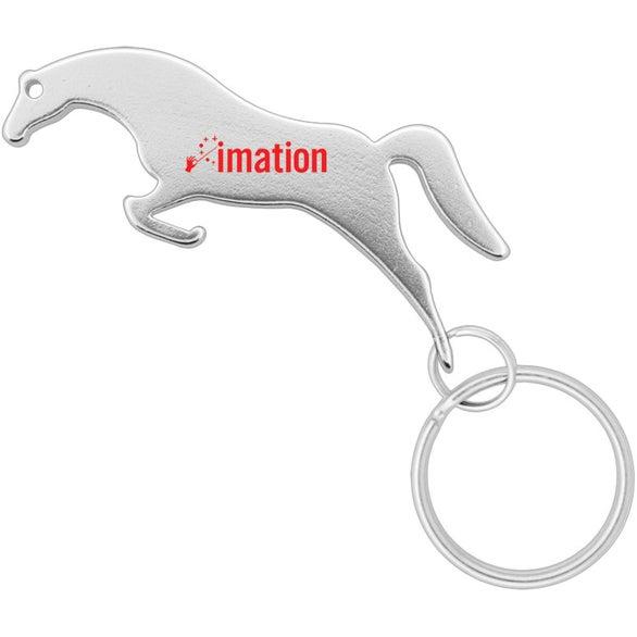 horse shape bottle opener keychain trade show giveaways ea. Black Bedroom Furniture Sets. Home Design Ideas