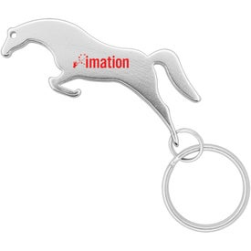 Horse Shape Bottle Opener Keychain for Customization