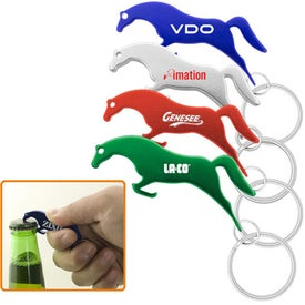 Horse Shape Bottle Opener Keychain