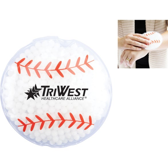 White / Red Hot and Cold Baseball Gel Pack