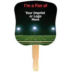 Branded Hourglass Shape Hand Fan