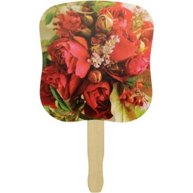 Hourglass Shape Hand Fan