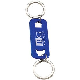 Imprinted House and Car Keychain