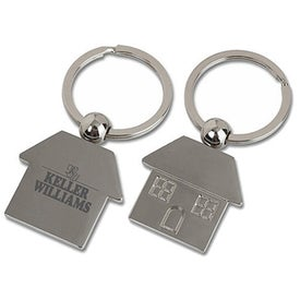 Metal House Shaped Key Tag