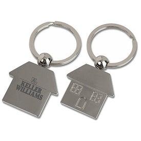 Metal House Shaped Key Tag