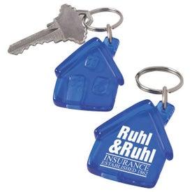 Plastic House Keychain