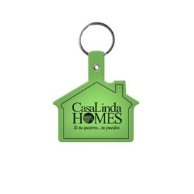 Vinyl House Key Tag with Your Slogan