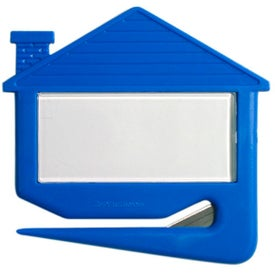 Plastic House Shaped Letter Opener Imprinted with Your Logo