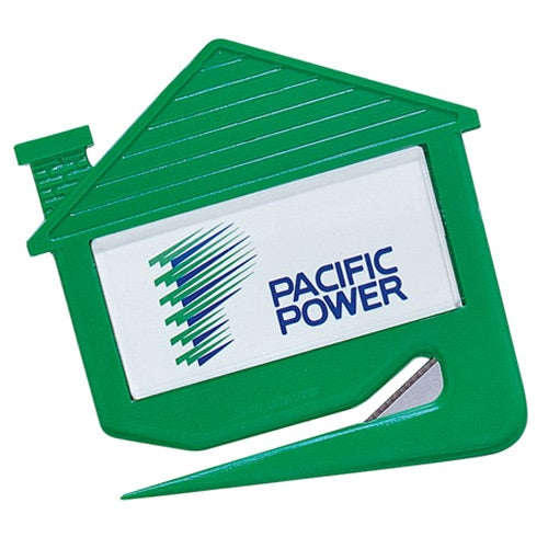Plastic House Shaped Letter Opener