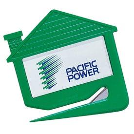 Plastic House Shaped Letter Opener