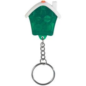 Customized House Shape LED Key Chain