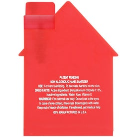 House Shape Alcohol Free Sanitizer for Your Company
