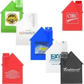 House Shape Alcohol Free Sanitizer for Marketing