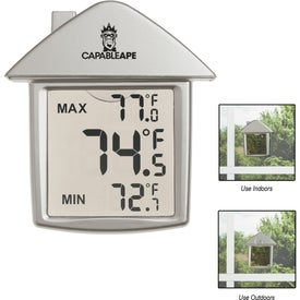 Personalized House Shape Thermometer