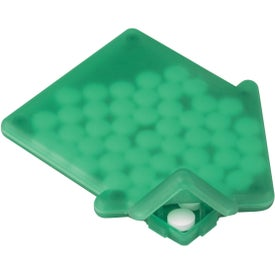 House Shaped Peppermints Branded with Your Logo