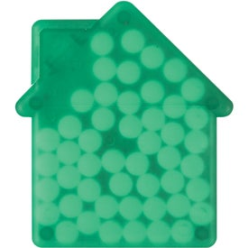 Imprinted House Shaped Peppermints