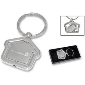 Branded House Spinner Keychain