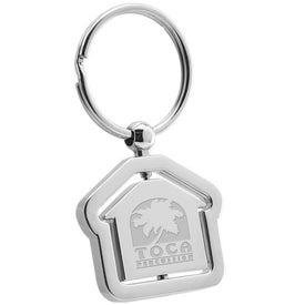Branded House Swivel Metal Keyholder
